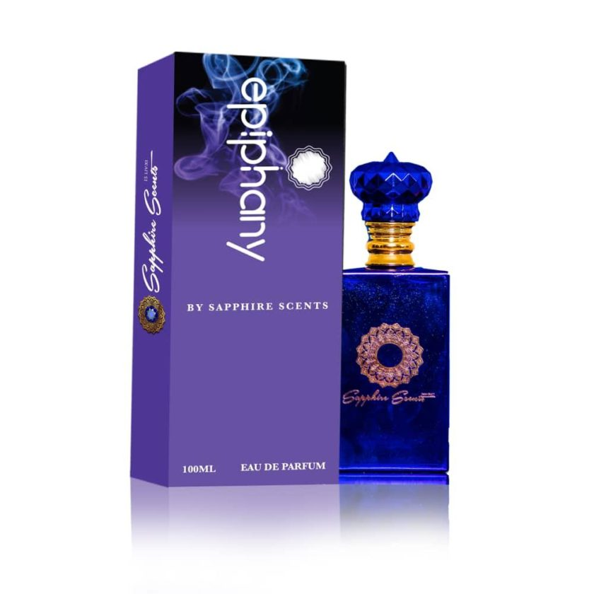 A bottle of perfume it is blue in colour and used to spray on clothes in other to smell nice
