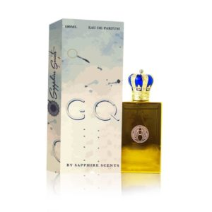 A bottle of perfume it is used for spraying on clothing