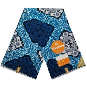 Dark and Light Blue African Prints