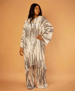 Two piece free size long top and trousers