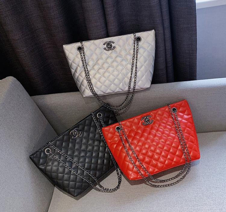 leather bags with chain
