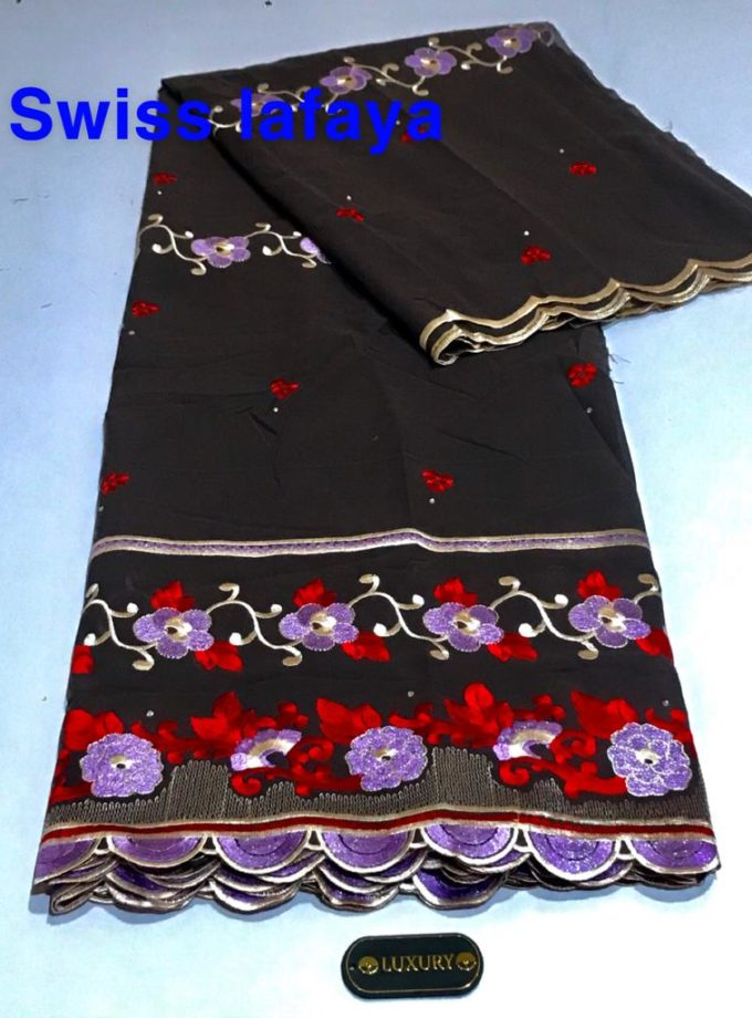 Red and Brown Swiss Lace